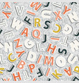 alphabet pattern on a gray background vector image vector image