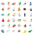 asian country icons set isometric style vector image vector image
