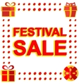Big winter sale poster with FESTIVAL SALE text vector image vector image