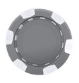 black and gray casino poker chip isolated on vector image