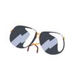 black sunglasses cartoon vector image vector image