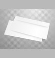 blank white envelope mockup isolated on vector image