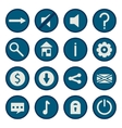 blue flat game icons set vector image vector image