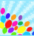 bright colored balloons against the background vector image vector image