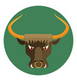 cartoon angry bull in circle icons design vector image vector image