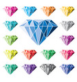 collection colorful diamonds vector image