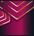 color abstract geometric banner with gold shapes vector image vector image