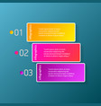 color modern progress paper banners set vector image