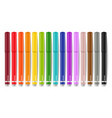 colorful markers set realistic 3d detailed vector image vector image