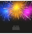 creative fireworks modern background vector image vector image
