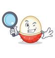 detective rambutan character cartoon style vector image vector image