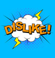 dislike thumbs down dislike icons for social vector image