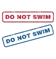 Do Not Swim Rubber Stamps vector image vector image