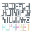 Easily modifiable geometric font vector image vector image