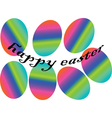 eastern eggs in rainbow colors vector image vector image