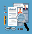 employment and hiring concept vector image vector image