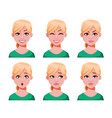 face expressions cute blonde doctor woman vector image vector image
