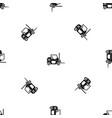 forklift pattern seamless black vector image vector image