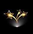 golden stars logo icon academy award icon vector image vector image