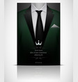 green suit and tuxedo with black tie vector image vector image