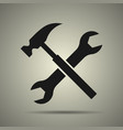 hammer and spanner tools icon vector image vector image