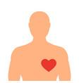 heart of man vector image vector image