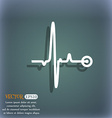 Heartbeat icon On the blue-green abstract vector image
