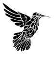 Humming-bird silhouette graphic drawing vector image vector image