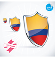I Love Colombia Flag vector image