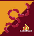 isolated bbq poster vector image vector image