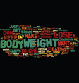 lose weight thighs text background word cloud vector image vector image