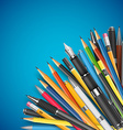 Mass pencils vector image vector image