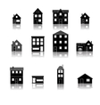 Modern trendy retro house street flat icons set vector image vector image