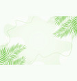 nature leafs background vector image
