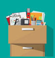 office furniture cabinet locker drawer vector image vector image