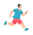 people marathon athletic male character running vector image