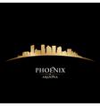 Phoenix Arizona city skyline silhouette vector image vector image