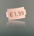 Pink price tag vector image