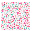 pink sweet flower dot seamless pattern vector image vector image