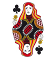 Queen of clubs no card vector image vector image