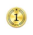 seal award gold icon blank medal with laurel vector image vector image