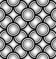 Seamless black and white geometric background vector image vector image