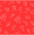 Seamless happy valentine day pattern hand drawn