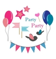 set of icons for party vector image vector image