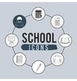 set school icons design vector image vector image