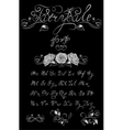Silver Fairytale hand drawn calligraphic vector image