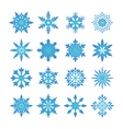 snowflake blue vector image vector image