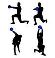 sportsman gesture silhouette 02 vector image vector image