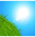 Spring sun over the hill vector image vector image