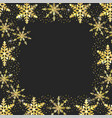 star with flakes decoration to new year event vector image